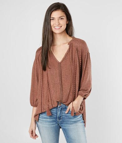 Miss Me Oversized Fleece Top