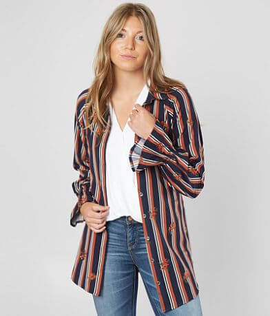 Miss Me Striped Tunic Blouse