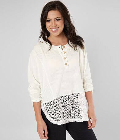 Miss Me Ribbed Henley Top