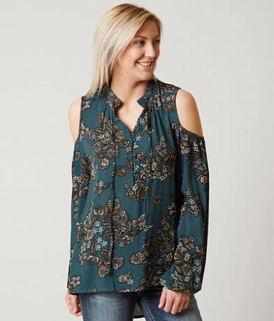 Miss Me Floral Henley Top