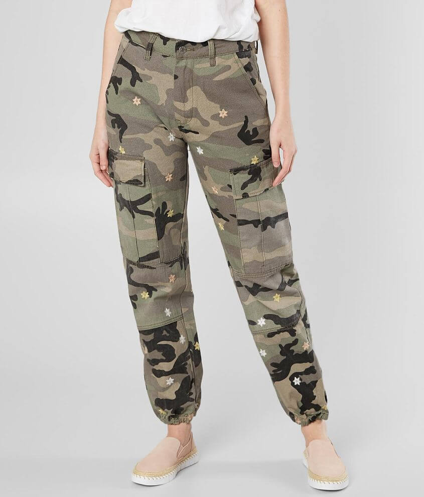 Miss Me Camoflauge Cargo Pant front view
