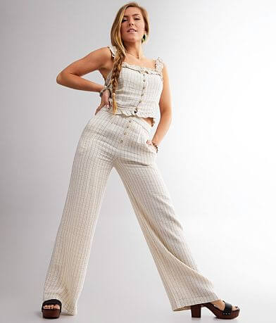 Miss Me Striped Wide Leg Pant