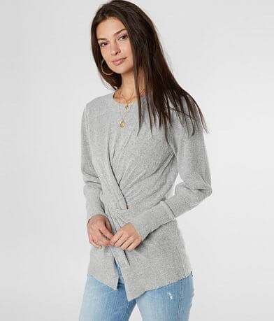 Miss Me Twisted Knit Sweater