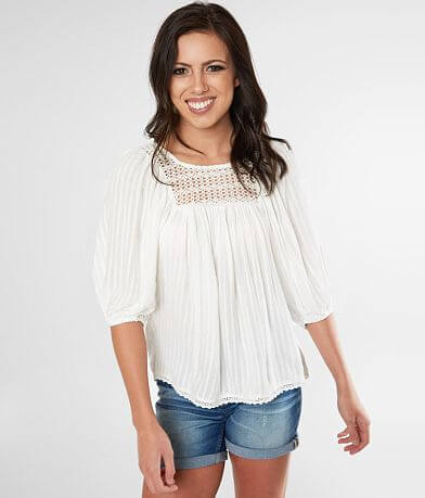 Miss Me Pleated Woven Top