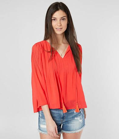 Miss Me Pleated Flowy Top