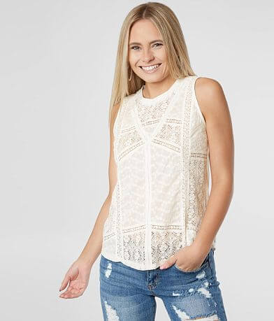 Miss Me Mix Match Lace Tank Top