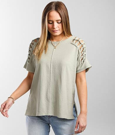 Miss Me Braided Knit Top