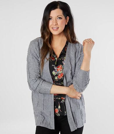 Miss Me Frayed Cardigan Sweater