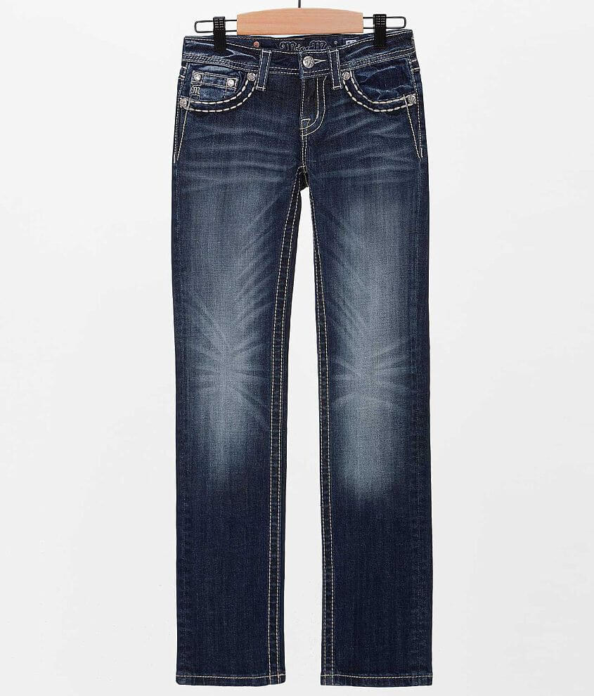 Girls - Miss Me Peace Sign Skinny Jean front view