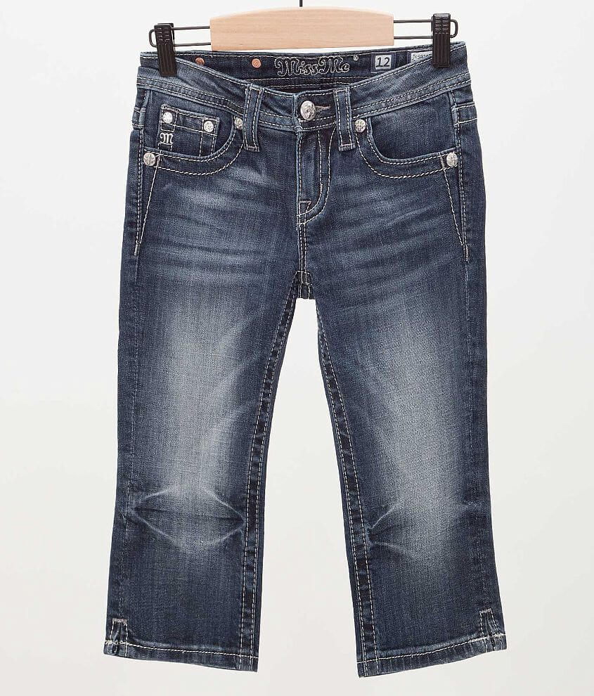 Girls - Miss Me Metallic Cropped Jean front view