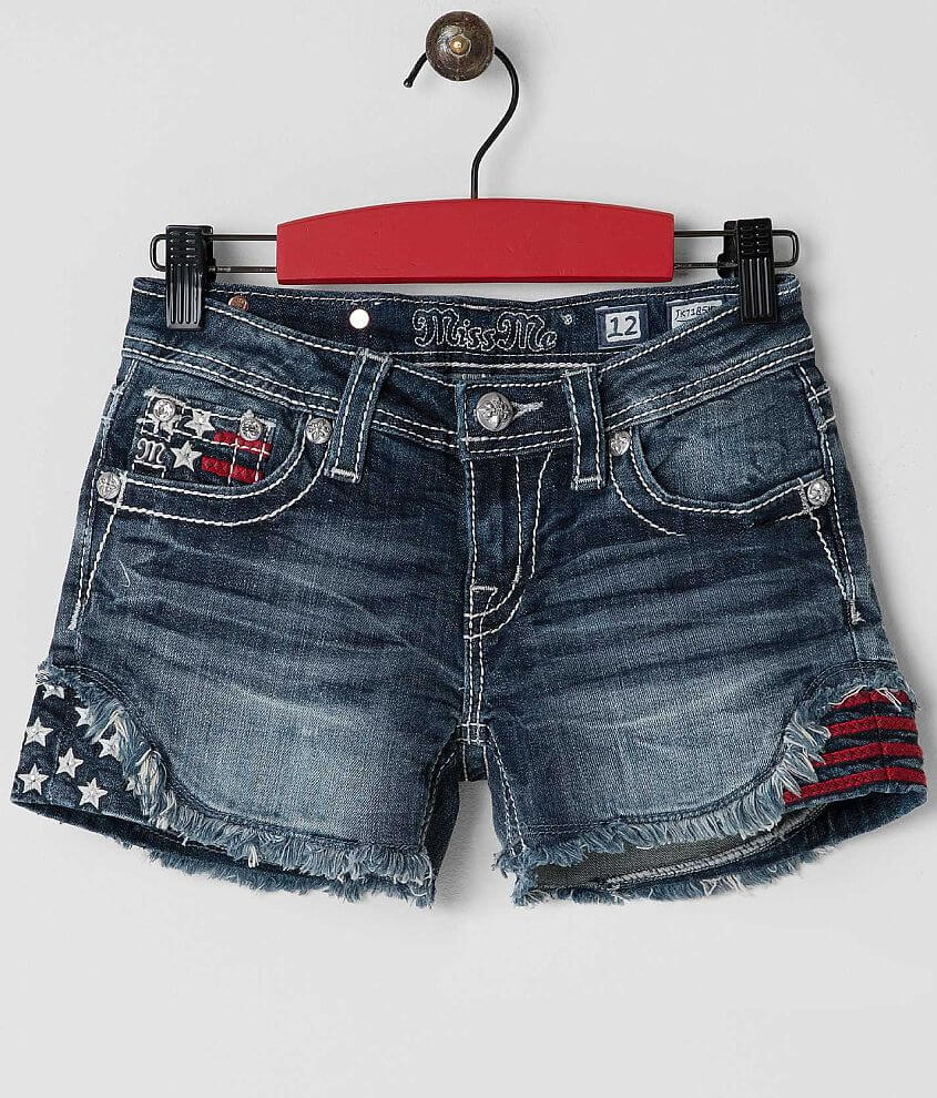 Girls - Miss Me Frayed Short front view