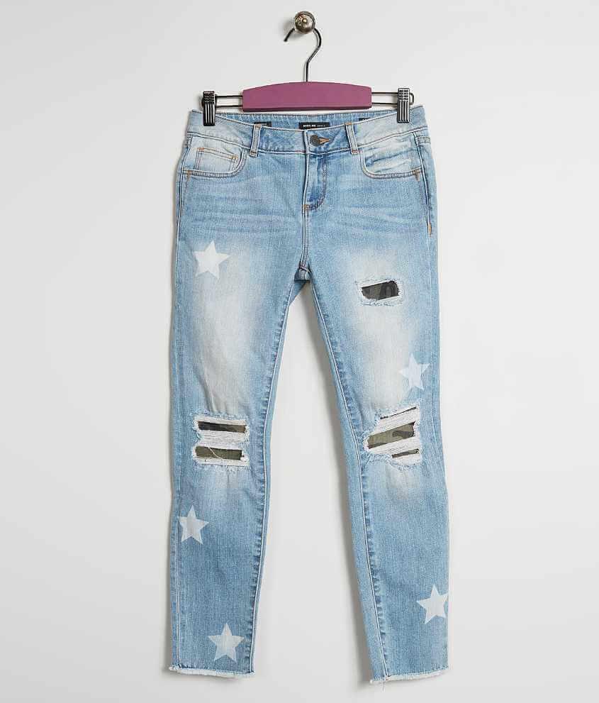 Girls Miss Me Skinny Stretch Jean Girls Jeans In Lt 163 Buckle