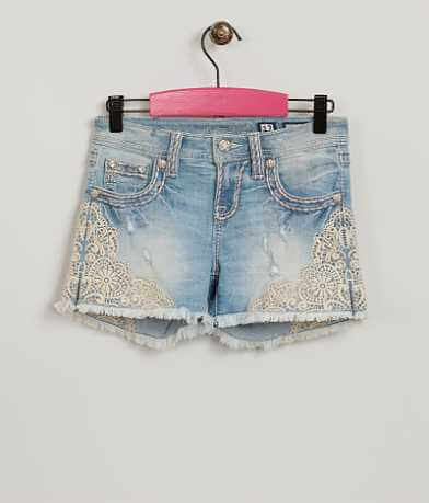Girls - Miss Me Embroidered Shorts