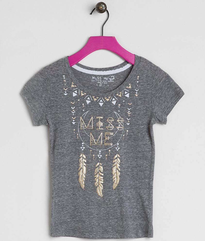 Girls - Miss Me Foiled Top front view