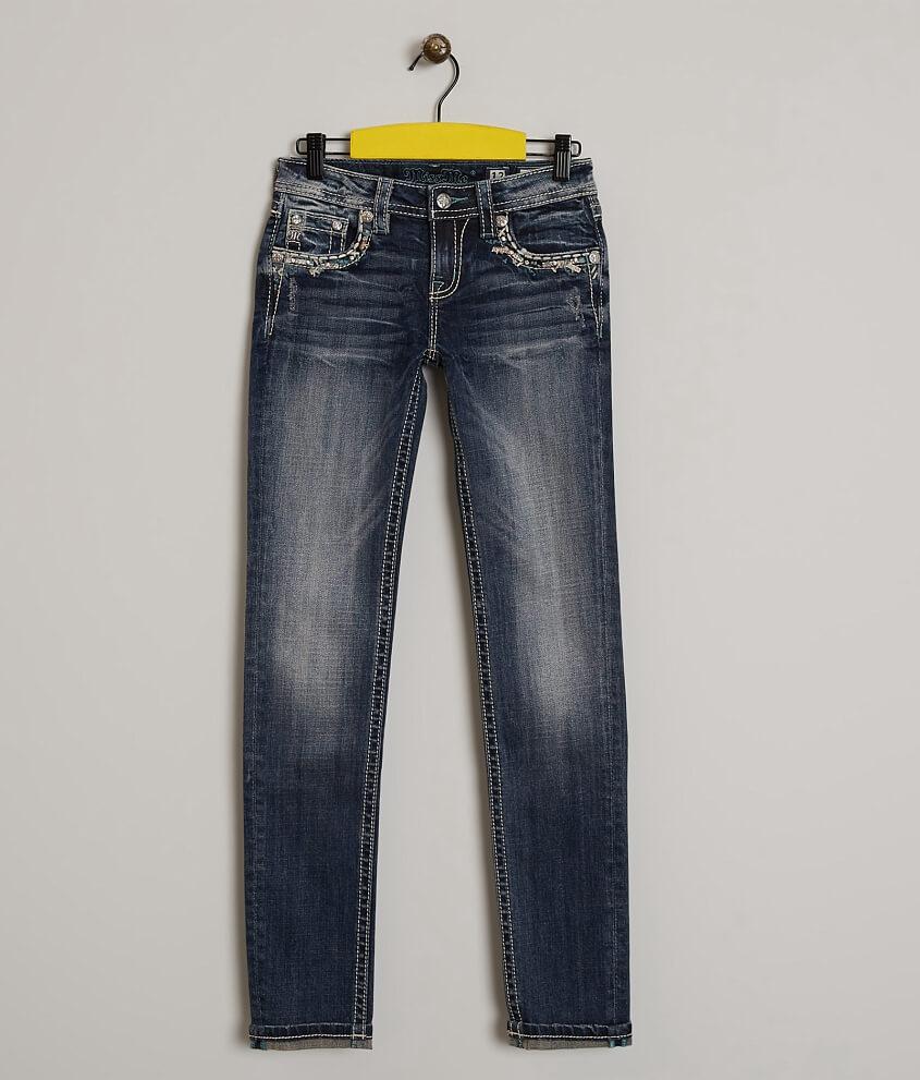 Girls Miss Me Skinny Stretch Cuffed Jean Girls Jeans In Dk 56