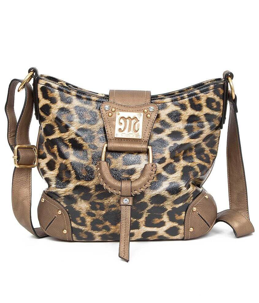 Miss Me Leopard Crossbody Purse front view
