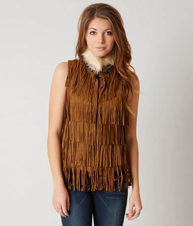 Miss Me Vintage Fringe Vest