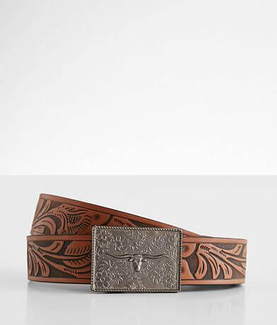 Mission Belt Western Tooled Leather Belt
