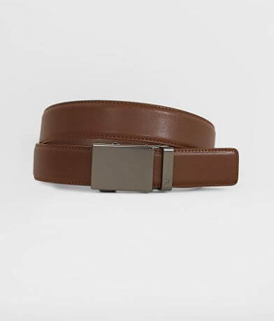 Mission Belt Gunmetal Leather Belt