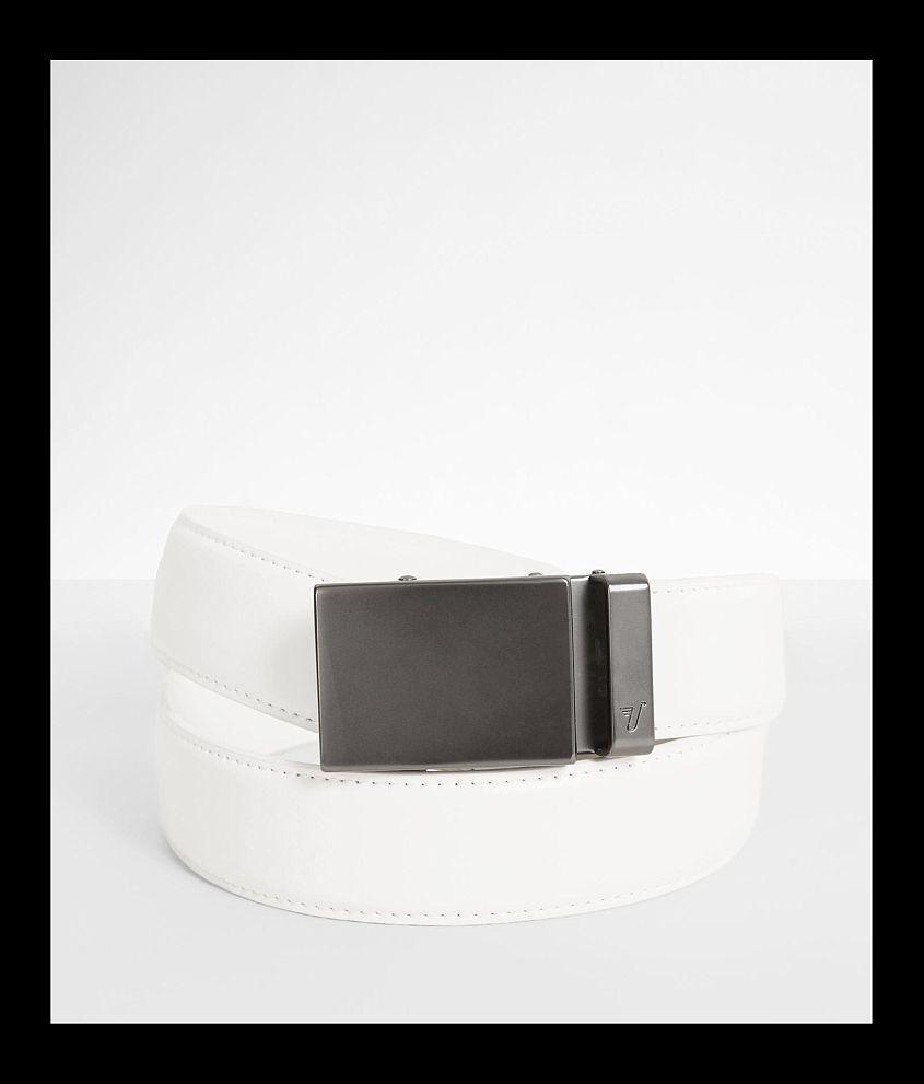 Mission Belt Gunmetal Leather Belt front view