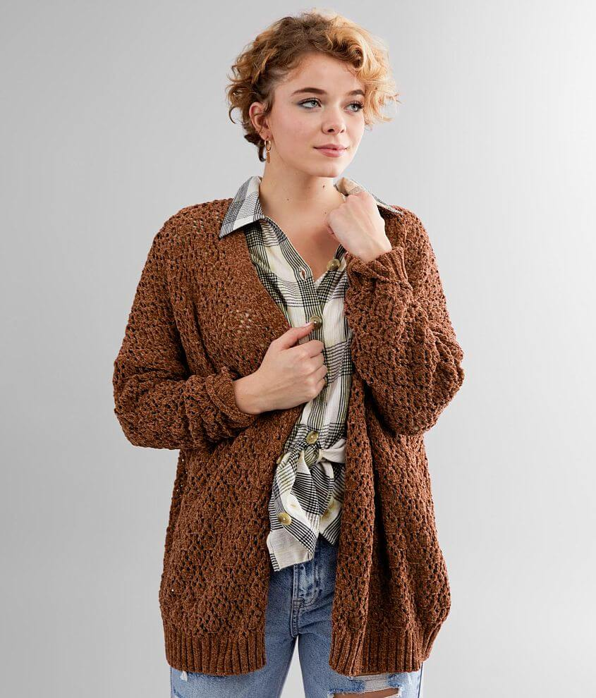 Daytrip Pointelle Cardigan Sweater front view
