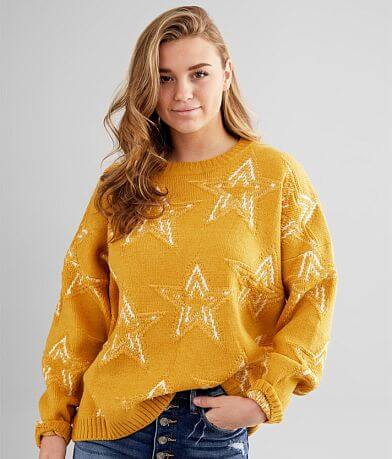 Gilded Intent Star Jacquard Sweater