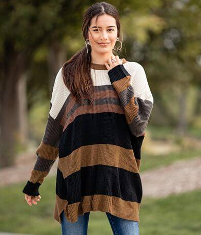 Willow & Root Striped Tunic Sweater