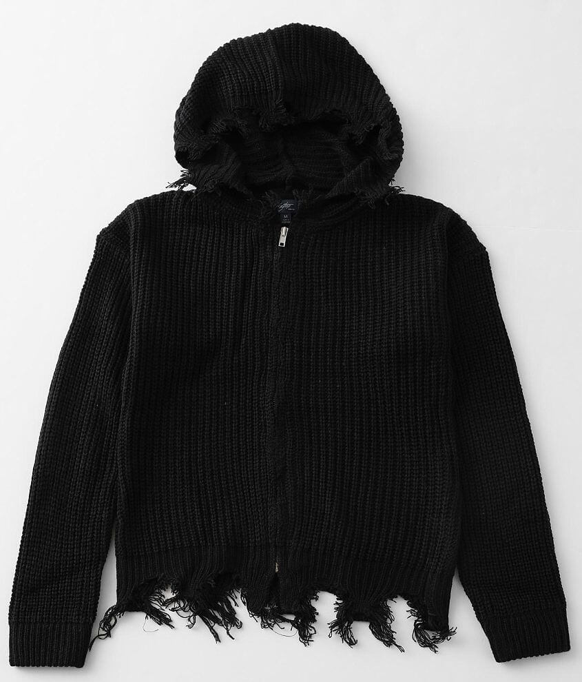 Girls - Daytrip Ribbed Knit Hooded Sweater front view