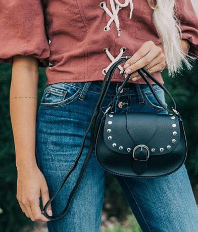 Studded Saddle Crossbody Purse