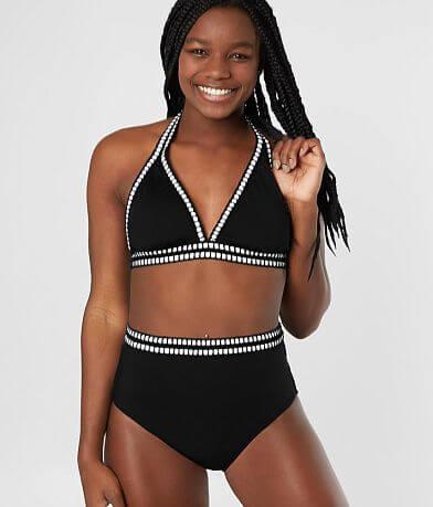 Mono B Contrast Halter Swimwear Top