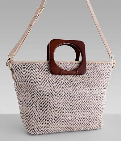Miztique Metallic Weaved Tote Purse