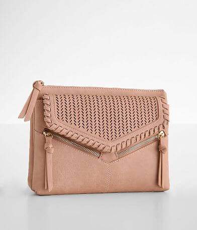 Madison West Perforated Crossbody Purse
