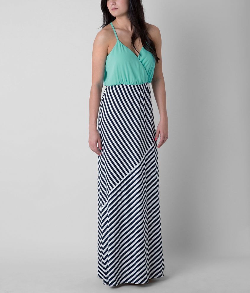 Daytrip Striped Maxi Dress front view