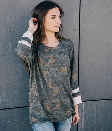 Daytrip Camo Print Top