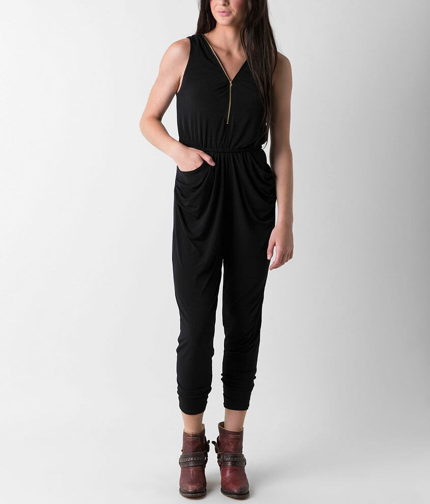 Silver Gate Solid Romper front view