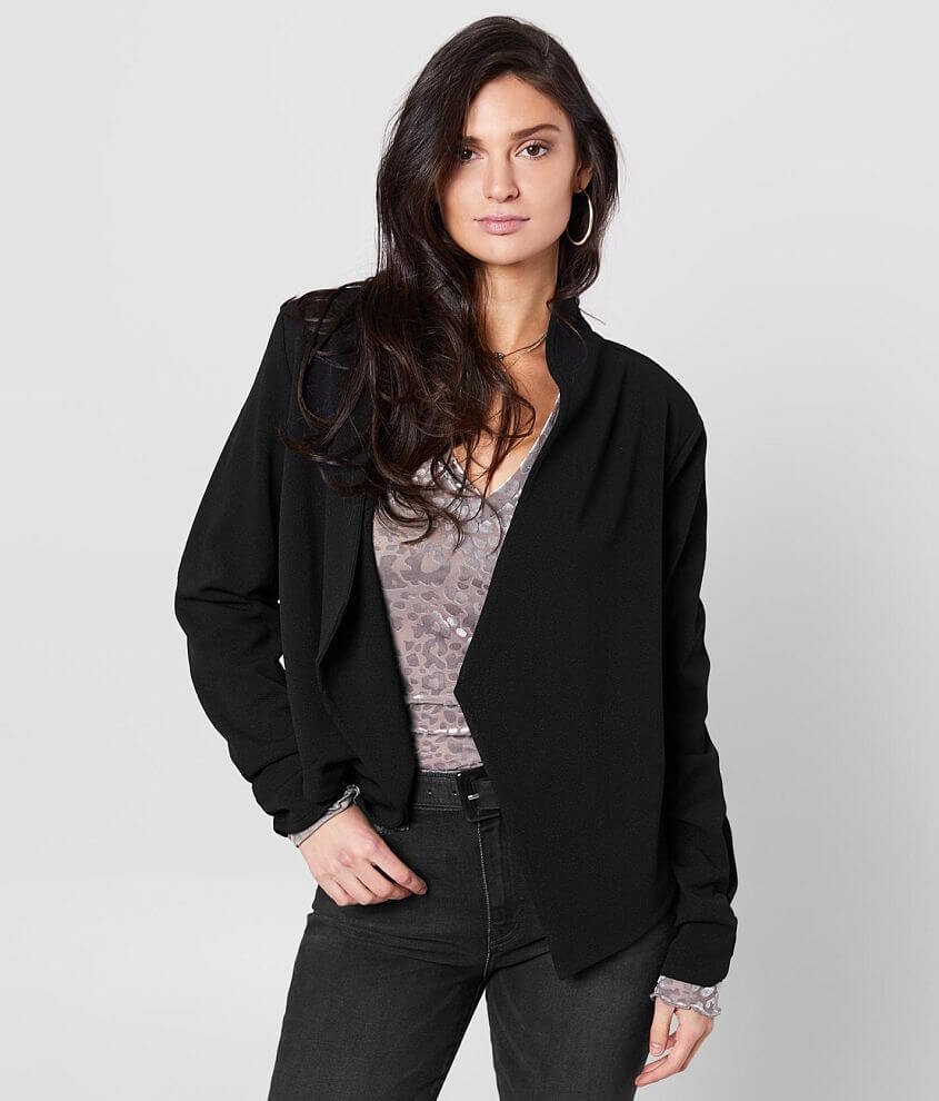 Willow & Root Lightweight Open Front Jacket front view
