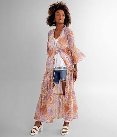 Daytrip Medallion Chiffon Duster Kimono