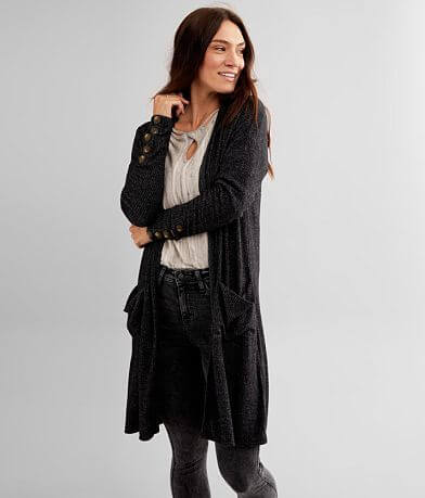 BKE Brushed Knit Cardigan