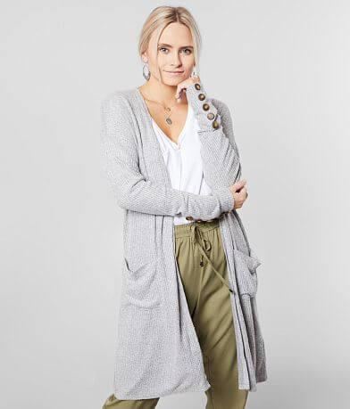 BKE Brushed Knit Midi Cardigan