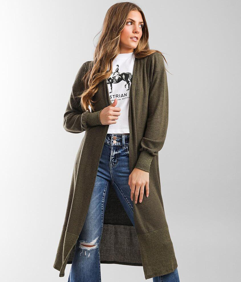 Daytrip Hooded Duster Cardigan front view