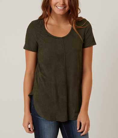 Moa Moa Faux Suede Top