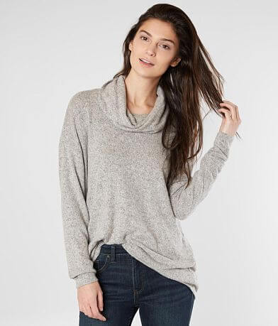 Daytrip Cowl Neck Fleece Top