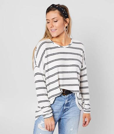 BKE Striped Hacci Top