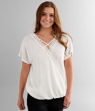 Daytrip Strappy Surplice Dolman Top