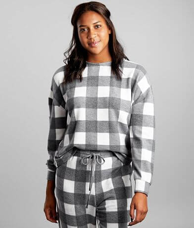 BKE Brushed Buffalo Plaid Pullover