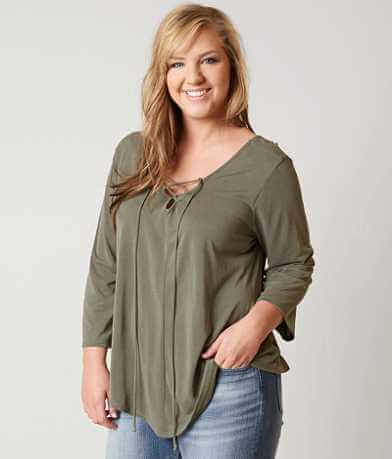 Daytrip Lace-up Top - Plus Size Only