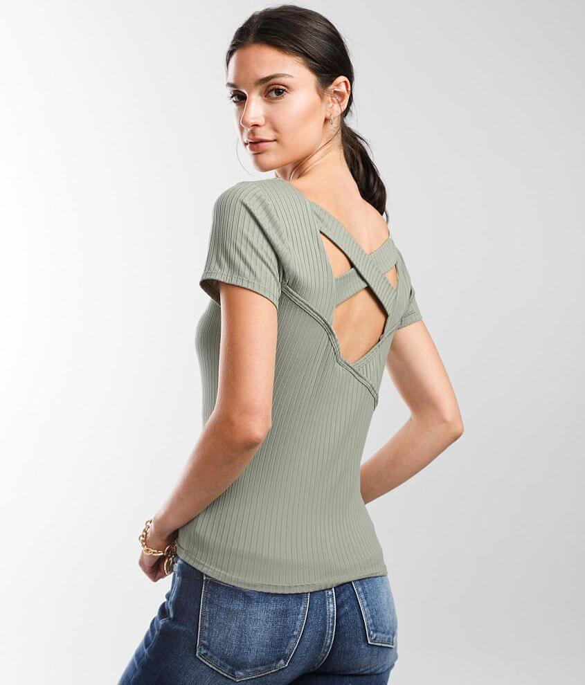 Willow & Root Strappy Back Top front view