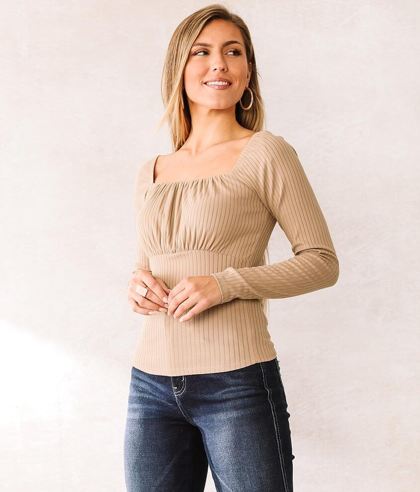Willow & Root Square Neck Top front view