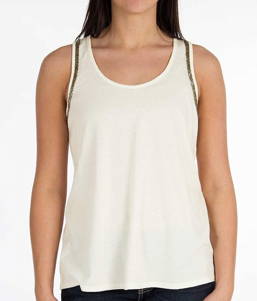 Daytrip Racer Back Tank Top front view