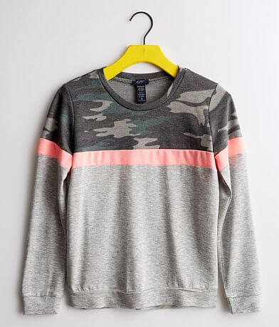 Girls - Daytrip Camo Color Block Pullover
